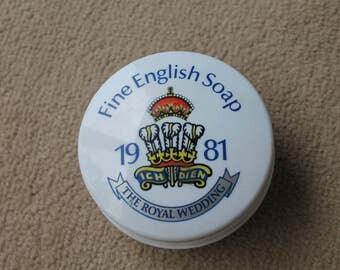 Royal Wedding 1981 Commemorative 'Morny' Soap