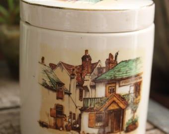 English Oxford Marmalade Jar Vintage 1930's Sandland Ware Lancaster's  Hanley English China Tobacco Jar Collectible Storage Jar - Col0178