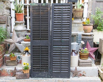 louvered shutters | etsy