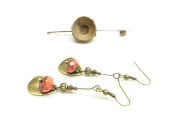Vintage roses ~ • ~ old pink pearl earrings.