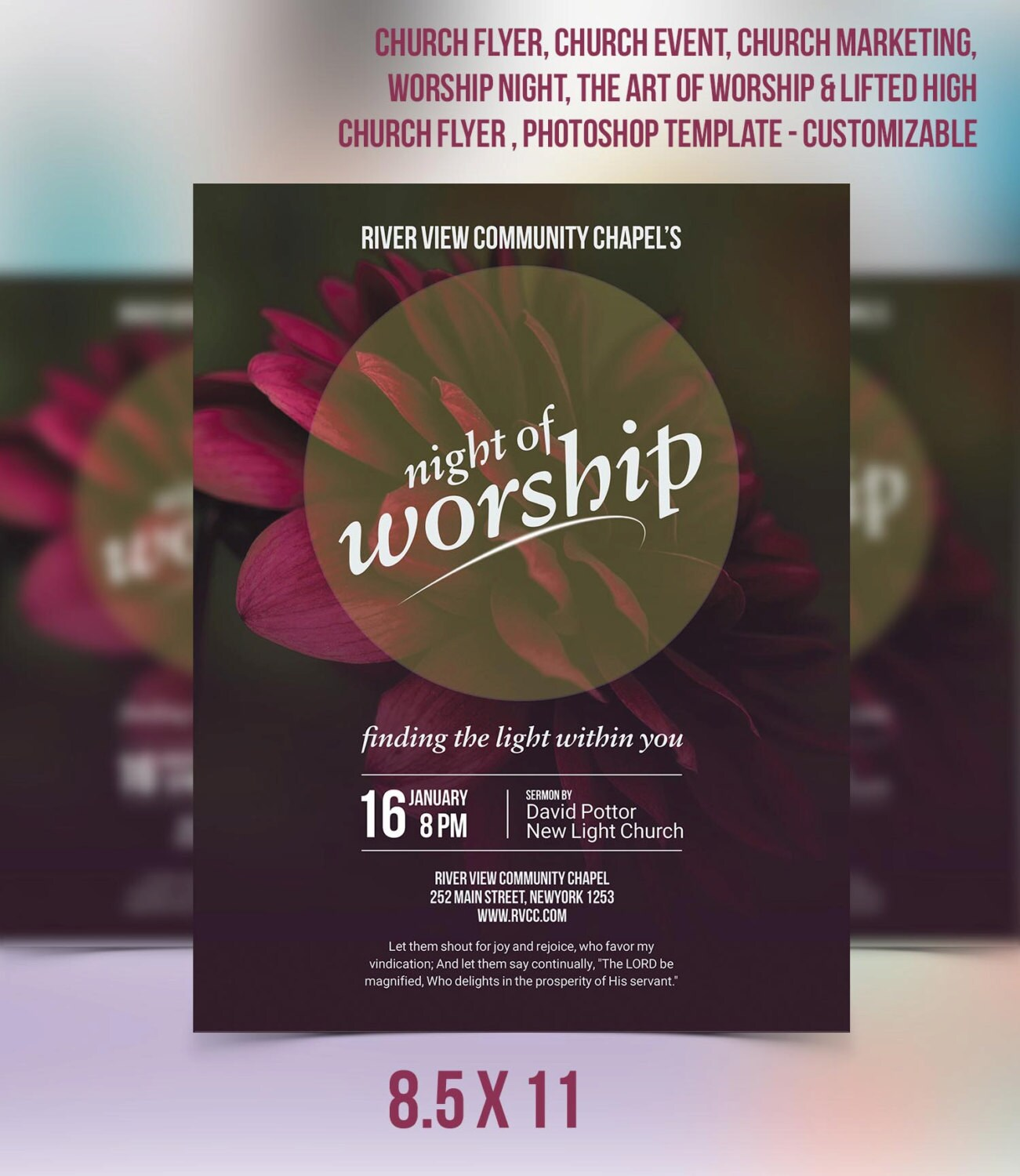 Church Flyer Church Event Church Marketing Worship Night