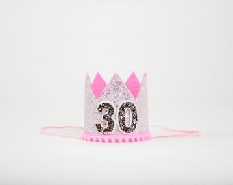 Thirty Flirty Birthday Crown | 30th birthday for her | Flirty 30 Birthday Hat | Dirty Thirty | 30th Birthday Crown | Pink