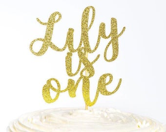 First Birthday Cake Topper, Cake Topper, First Birthday, Glitter Cake Topper, Birthday Cake, Birthday Cake Topper, Name Cake Topper, Cake