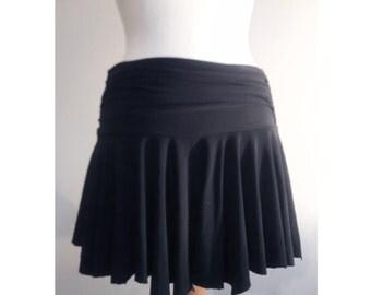 Mini skirt flared stretch