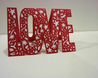Handmade LOVE greeting card