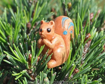Woodland Squirrel for Miniature Garden, Fairy Garden