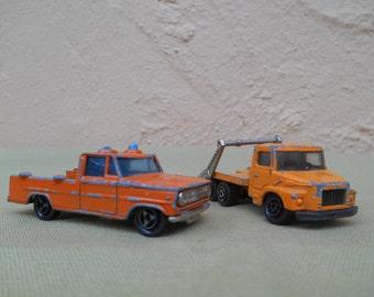 Diecast Car, Diecast Trucks, Majorette Toy Trucks x 2, Vintage Toy Trucks
