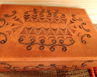 Vintage Wooden Box, Carved Box, Jewelry Box, Jewellery Box, Handmade Box, Wooden Box, Trinket Box, Collectibles