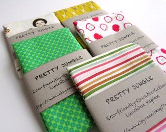 Eco-friendly - Reusable-Reversible- Cotton Lunchbox Napkin