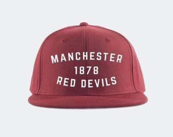 Manchester United Red Devils Inspired Snapback Hat - Premier League