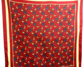 Vintage BREUER Scarf, Silk Scarf, Floral Motives, Made in France