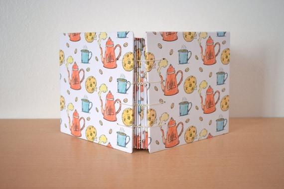 Handmade diary notebook, Coptic journal, Blank notebook, Illustrated notebook, Coptic notebook, Blank page notebook, Hand stitched notebook