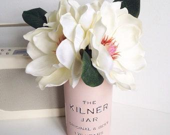 Faux silk cream magnolia bouquet flower arrangement