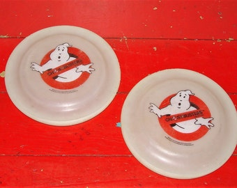 2 Rare Ghostbusters Frisbee 1980s