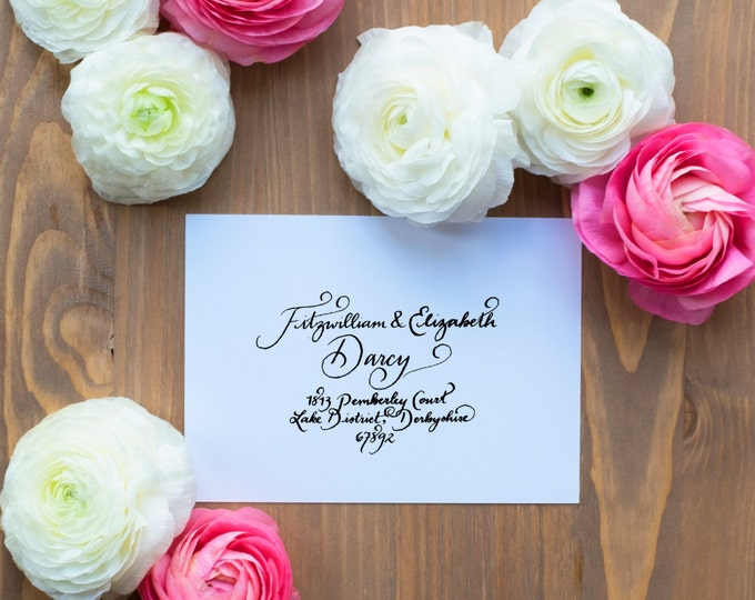Hand-Addressed Calligraphy Invitation - Affordable - Wedding - Party - Matutine Bold