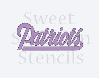 NE Patriots Cookie Stencil