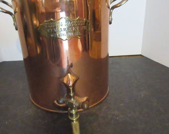 Vintage Flinn & Jackson Copper Coffee - Stove Top Percolator with On/Off Spout