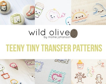 Teeny Tiny Iron-On Embroidery Pattern Transfers • 7 Pages • by Wild Olive