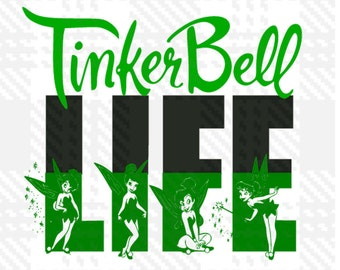Tinkerbell SVG, Tinkerbell DXF, Tinkerbell Silhouette SVG Cut table Design,svg,dxf,png Use With Silhouette Studio & Cricut_Instant Download