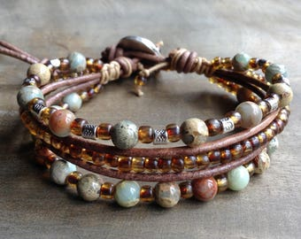 Bohemian bracelet boho bracelet hippie bracelet gemstone womens jewelry fashion bracelet boho chic bracelet gypsy bracelet hippie jewelry