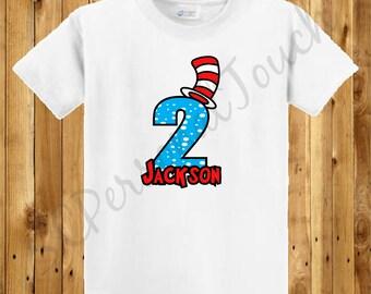 Children's Dr. Suess Birthday Shirt