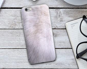 Fur iPhone Case - White Fur iPhone Case - Fur Phone Case - White Fur - iPhone 7 Case - iPhone 6 Case - iPhone Case