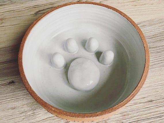 Ceramic Slow Bowl Dog Bowl Cat Bowl Slow Feeder No Gulp