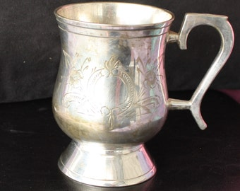 Vintage EPNS Silver Plate Stein / Tankard / Beer Mug - Perfect Gift for the Man Cave!