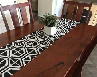 Table Runner - Black Table Runners for Dining Table - Black Wedding Decor Table - Kitchen Runner