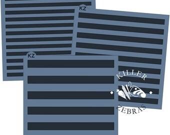 Fast Shipping!!! Small or Medium Striped Stencil