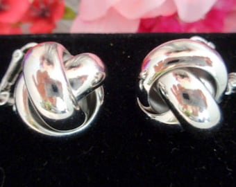 Vintage LES BERNARD Mint Condition Silverplate Screw Back Earrings. These are Truly Mint Condition.
