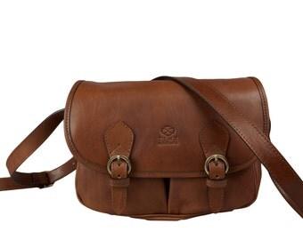 Womens Brown Leather Crossbody Bag,  Shoulder Bag - Gravity's Rainbow