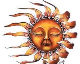 "Sleeping Sun // 7"" inch vinyl decal //"