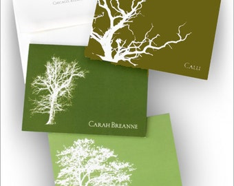 Nature's Silhouette Notes - Tree Notes  - Fold Notes - 6486