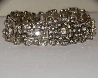 Custom Rhinestone Bracelet.