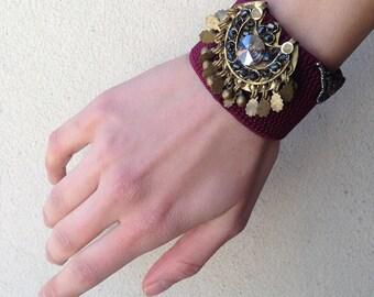 Ethnic Bracelet, Traditional Bracelet, Boho Bracelet, Beaded Bracelet, Tribal Bracelet, Woven Bracelet, Bohemian Jewelry, Avant Garde
