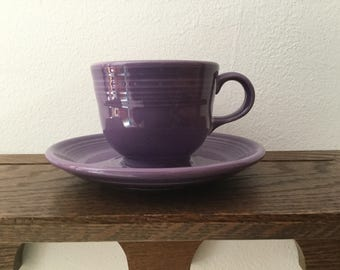 Vintage LILAC FIESTAWARE Cup and Saucer Set    Discontinued Color HTF