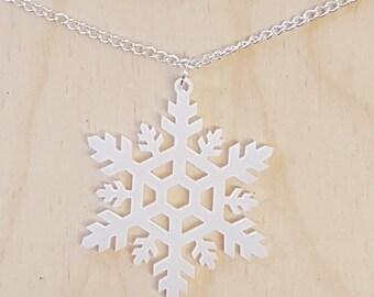 Christmas Snowflake Necklace - Acrylic
