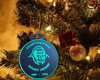 Harambe Christmas Ornament - It's Not Christmas Without Harambe - 3D Printed