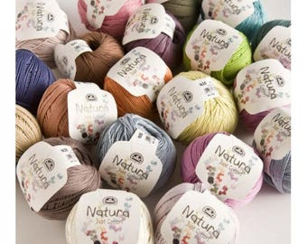 DMC natura just cotton 4ply DK 50g 155 meter (170yds) knitting/crochet matte finish for size 3 crochet knit 2.5-3.5 choose from 21 colours