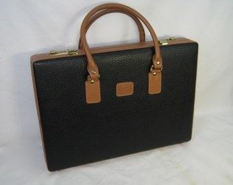 Vintage 1990 Geoffrey Beene Boutique briefcase, new old stock briefcase, leather briefcase