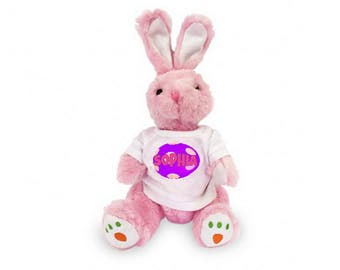 "Personalized Carrot Paw Easter Bunny 14 "" - Pink"