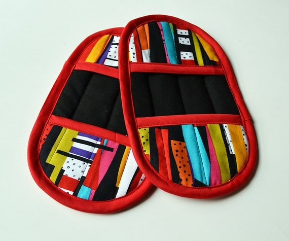 Red Pot Holders: Colorful Pot Holders Red Pot Holders Colorful Oven Mitts