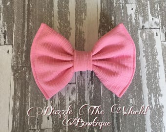 Large Bubble Gum Pink Rockabilly Hair Bow