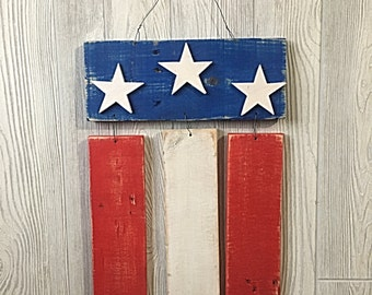 American flag for hanging on your door