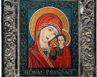 Machine Embroidery Design Mother of God