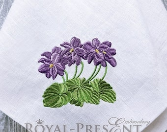Machine Embroidery Design Purpure Violets