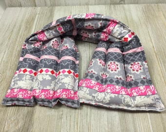Rice bag - Rice Heating Pad - Microwave heating pad - hot cold pack  - neck wrap - microwave heat wrap,