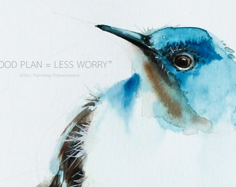Bird art inspirational quote  meaningful and  precious image  for  unique  room decoration or great valuable gifts.
