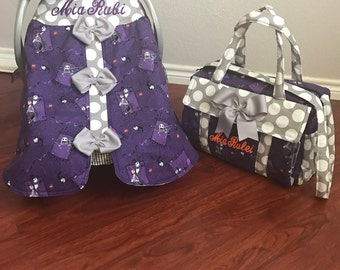 Nightmare before Christmas diaper bag and canopy made to order